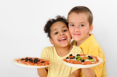 kids pizza, cooking with kids